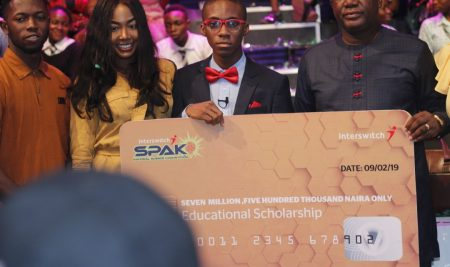 Best Science Student in Nigeria in the Interswitch Spak Science Competition
